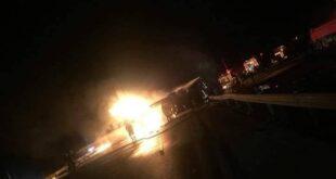 قتيلان انفجار صهريج وقود في الرميلان بريف الحسكة