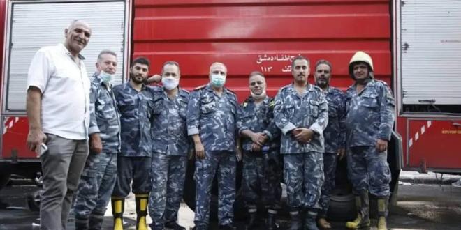 حريق في مستودع بمنطقة الحريقة في دمشق