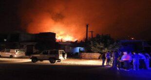 السلطات السورية ترسل مساعدات طبية عاجلة لمساندة أهالي القرى المنكوبة نتيجة الحرائق