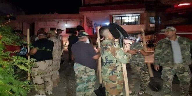 الجيش السوري يدخل في مواجهة الحرائق في الساحل