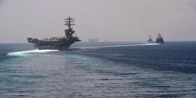 حاملة طائرات أمريكية تدخل إلى مياه الخليج