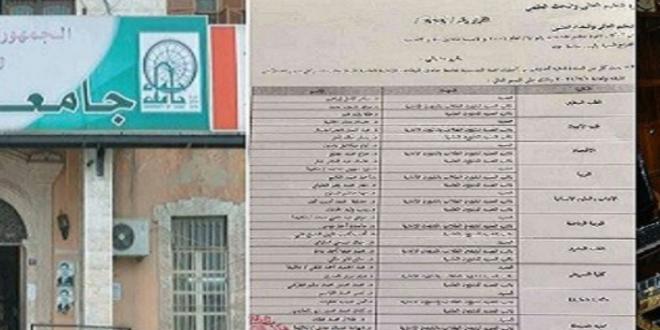 تعيين زوجة مدير مكتب أحد النافذين عميدة كلية.. ورئيس جامعة حماه يعلق