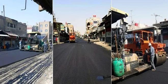 البدء بتأهيل عدة طرق في مدينة دمشق