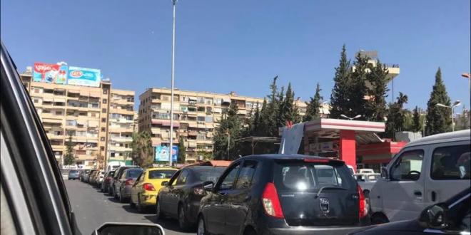 """أزمة البنزين تخنق مواصلات دمشق.. والتكسي """"عالعداد السياحي"""""""