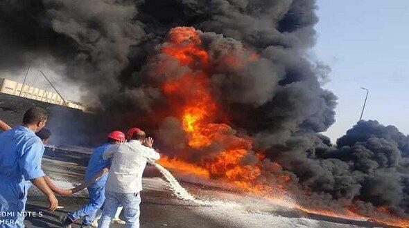 إخماد حريق كبير في أحد مخابز دمشق