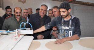 الوزير البرازي يجول على أفران دمشق