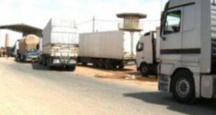تصدير 6404 أطنان من الخضار والفواكه والمواد الغذائية عبر حدود نصيب