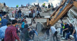 ارتفاع عدد قتلى زلزال إزمير غربي تركيا إلى 24 والإصابات إلى 804