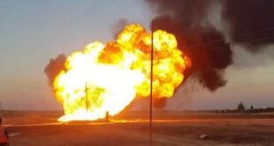 مصدر في مديرية حقول نفط الجبسة: انفجار خط الغاز عمل إرهابي