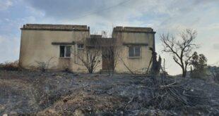 القرداحة تتصدر قائمة المناطق المتضررة من الحرائق في اللاذقية