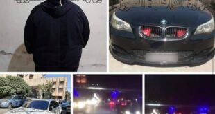 توقيف وحجز سيارات.. القاء القبض على المفحطين في شارع المعرض وسط دمشق