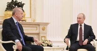 """بوتين يعلق على """"طموحات أردوغان العثمانية"""" والتوتر التركي الفرنسي"""