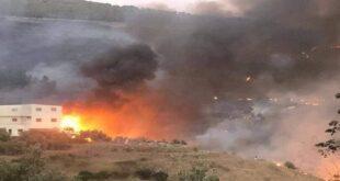 سوريا.. حريق ضخم في ريف حمص