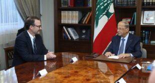 الرئيس اللبناني يدعو أميركا إلى تسهيل عودة النازحين السوريين إلى بلادهم