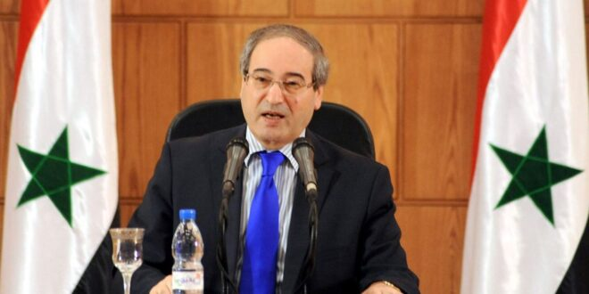 مرسوم رئاسي يقضي بتسمية الدكتور فيصل المقداد وزيراً للخارجية