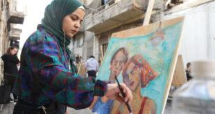 الرسامون يعودون الى شوارع دمشق.. شاهد!