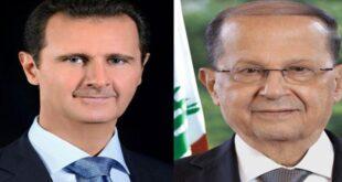 الرئيس الأسد يوجه رسالة الى عون