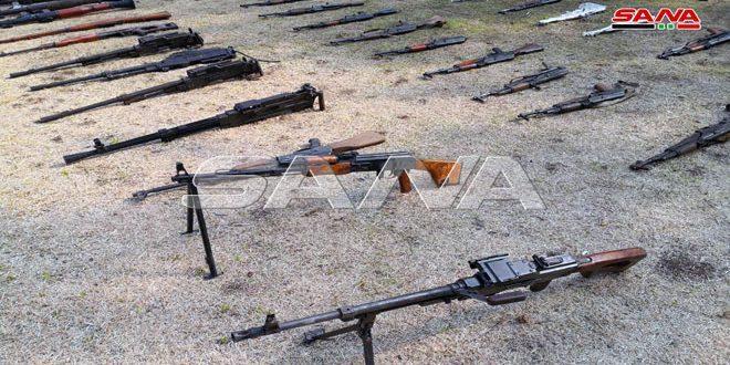 الأمن السوري يعثر على أسلحة وذخائر في المنطقة الجنوبية
