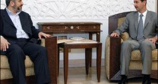 خالد مشعل يتحدث عن الوساطة بين الإخوان والرئيس الأسد