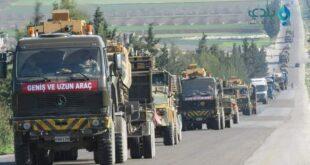 تركيا تدفع تعزيزات عسكرية ضخمة إلى إدلب