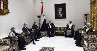 صباغ للسفير العماني: مستمرون بتطوير علاقاتنا والتعاون بيننا