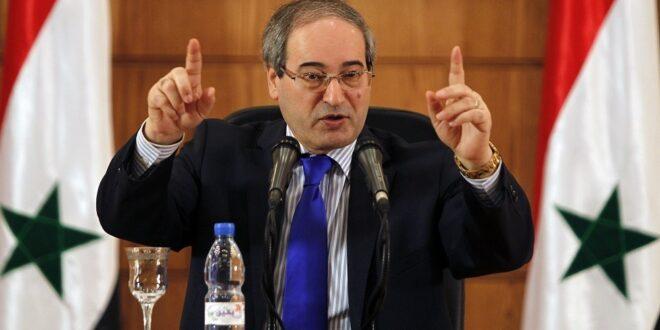 وزير الخارجية السوري يكشف سبب تمسك الدول الأوربية باللاجئين السوريين