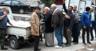 سيارات خبز جوالة في أحياء دمشق