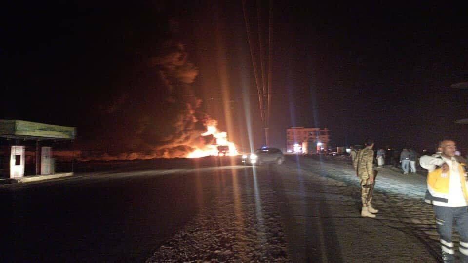 انفجار صهريج لنقل الوقود في مدينة الباب السورية