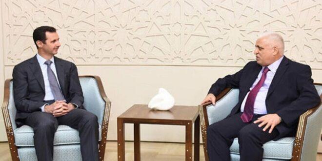 رئيس هيئة الحشد الشعبي يصل دمشق للقاء الأسد