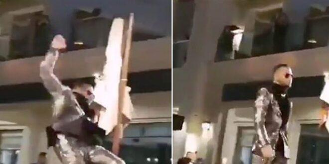 محمد رمضان في موقع محرج.. سقطة عالطاير