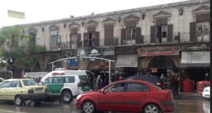 وفاة أحد نزلاء فندق دمشق في منطقة باب الفرج بحلب بعد انهيار أحد أسقف غرفه