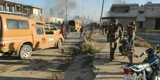 """سيارة مفخخة تستهدف حاجزا للفصائل """"التركمانية"""" شرقي سوريا..فيديو"""