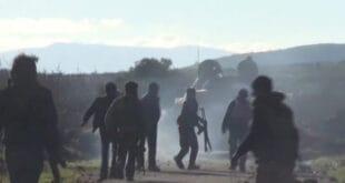 انفجار عربة تابعة للجيش السوري جراء قصف تركي على شمالي الحسكة (صورة)