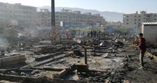 الجيش اللبناني يوقف 6 سوريين ولبنانيين على خلفية إحراق مخيم النازحين بالمنية