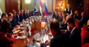 مباحثات سورية روسية لتطوير التعاون الاقتصادي والمالي ورفع حجم التبادل التجاري