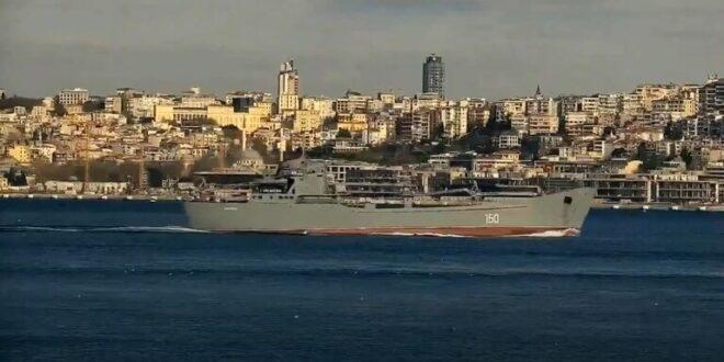 بالصور: سفينة انزال حربيّة روسية تتجه الى سوريا