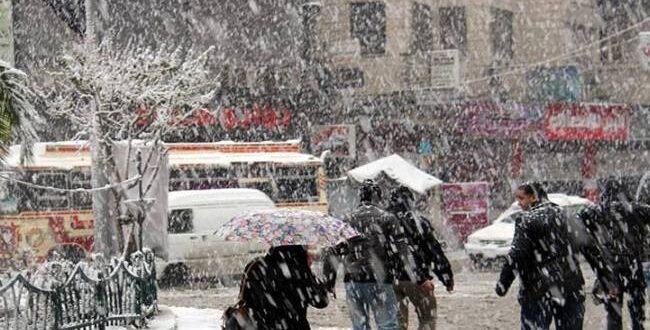 لأول مرة هذا الشتاء.. الثلوج متوقعة على مدينة دمشق