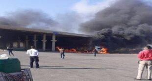 سوريا.. انفجار شاحنة في معبر نصيب الحدودي مع الأردن