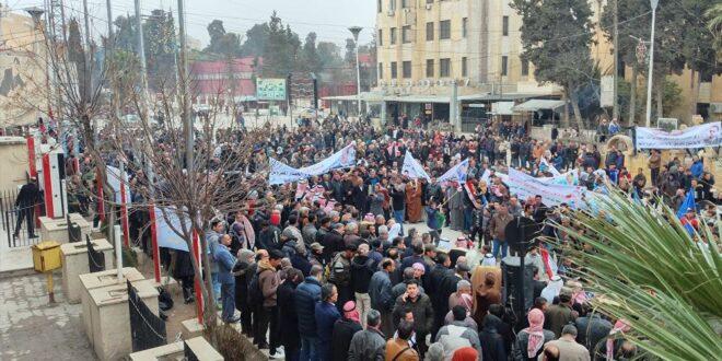 قسد تواجه بالرصاص متظاهرين يطالبون بفك الحصار عن الحسكة.. شاهد!