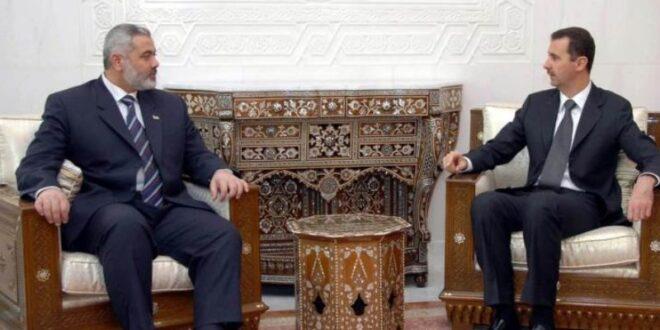 """وساطة إيرانية لإعادة العلاقات بين """"حماس"""" ودمشق"""