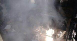 إصابة شاب جراء حريق ضمن منزل في منطقة المزة