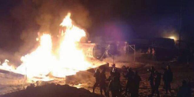 تشكيل لجنة تحقيق في ملابسات انفجار أحد صهاريج الشركة السورية لنقل النفط