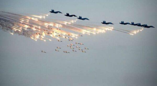 الطيران الحربي الروسي يشن 100 غارة جوية في البادية السورية