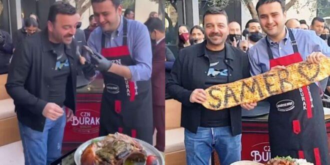 الشيف بوراك يستقبل الفنان سامر المصري في مطعمه..شاهدوا أبرز اللقطات