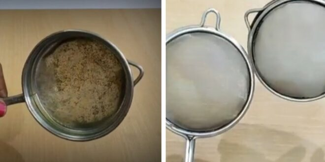 أسهل طريقة لتنظيف مصفاة الشاي من الصدأ والتراكمات