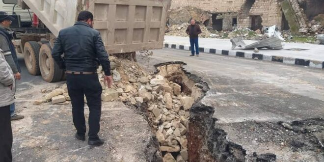 الأمطار تكشف نفقاً بطول مائة متر في حلب!