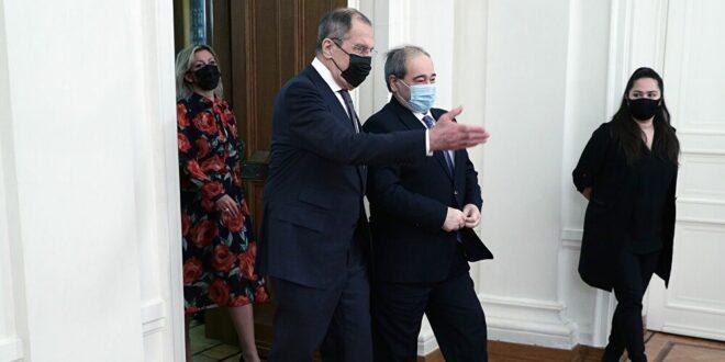"لافروف والمقداد يبحثان نتائج اجتماع ""أستانا"" حول سوريا"