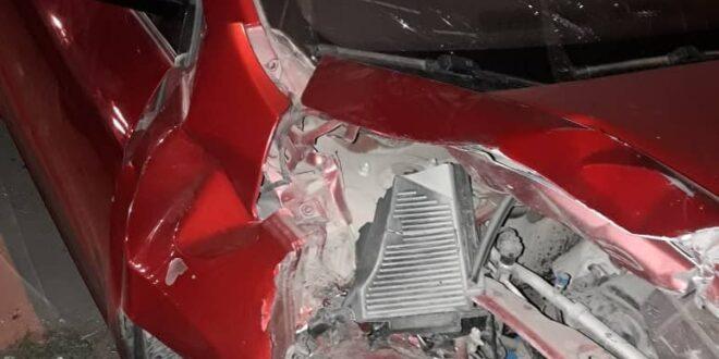 نقل شخص وزوجته وطفلته إلى أحد المشافي في جرمانا جراء حادث سير خطير
