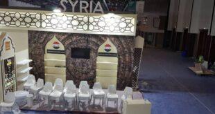تجهيز الجناح السوري في معرض غولف فوود في دبي