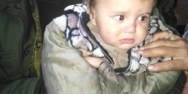 العثور على طفل في أحد حدائق دمشق